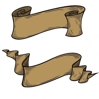 Lege vintage hand getrokken lint vector.