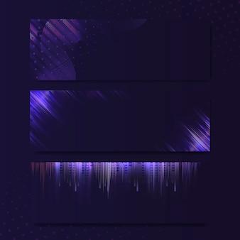 Lege violet paarse rechthoek neon uithangbord vector