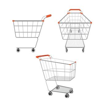 Lege winkelwagentjes instellen