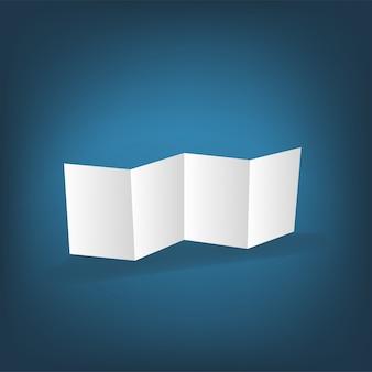 Lege witte vouwende document flayer
