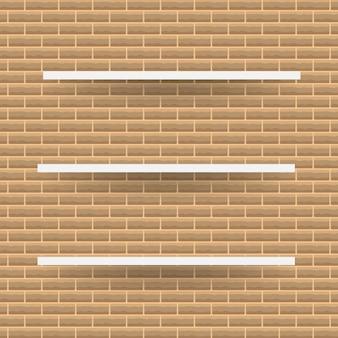 Lege witte winkel plank, retail planken van multiplex frame