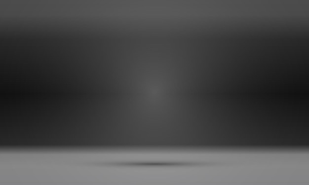 Lege zwarte studioruimte, gebruikt als achtergrond voor het weergeven van uw producten.