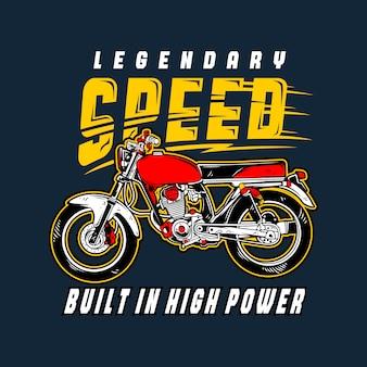Legend snelheid motorfiets illustratie