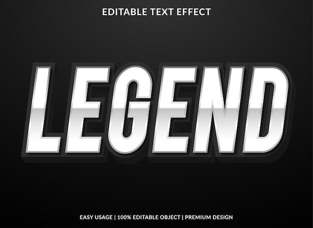 Legende teksteffect sjabloon premium stijl