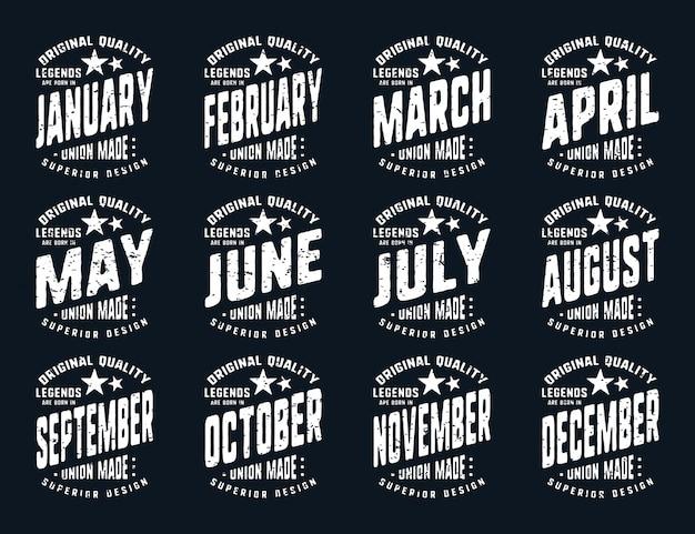 Legenden zijn geboren - vintage t-shirt typografie