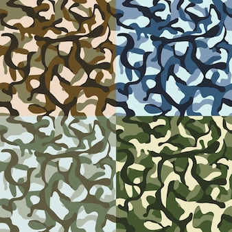 Leger camouflage patroon