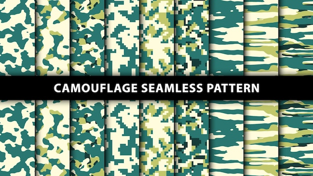 Leger en leger camouflage naadloos patroon