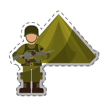 Leger gerelateerde pictogrammen afbeelding