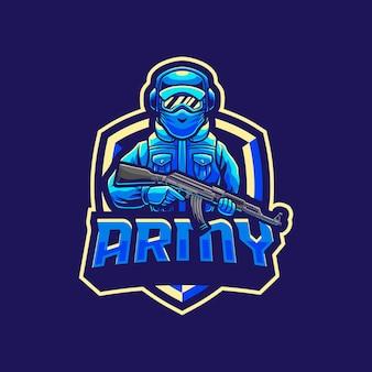 Leger soldaat mascotte logo ontwerp