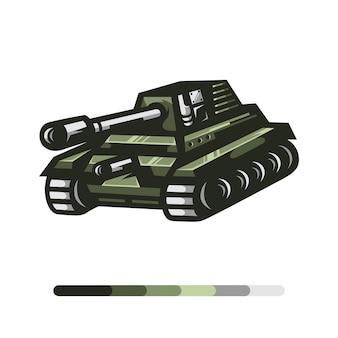 Leger tank illustratie