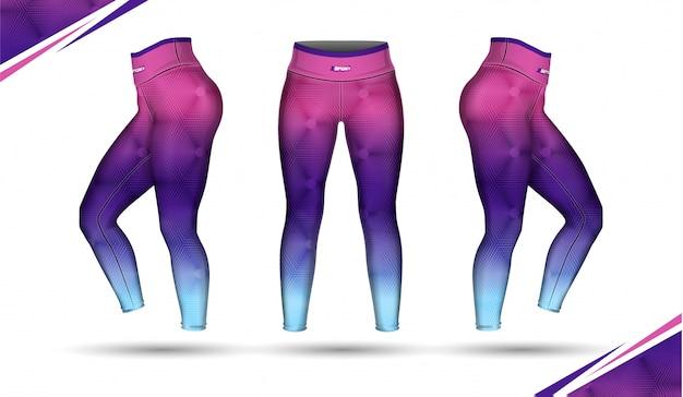 Legging broek opleiding mode illustratie vector met schimmel