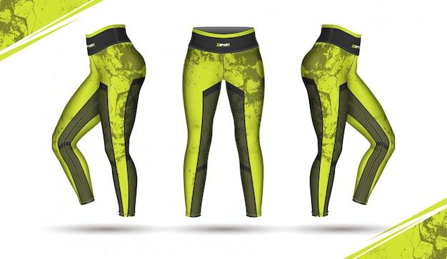Leggings broek mode illustratie vector met schimmel