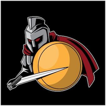 Legioen zwaardvechter logo illustratie