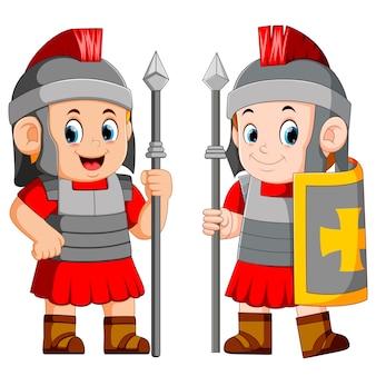 Legionair soldaat van het romeinse rijk