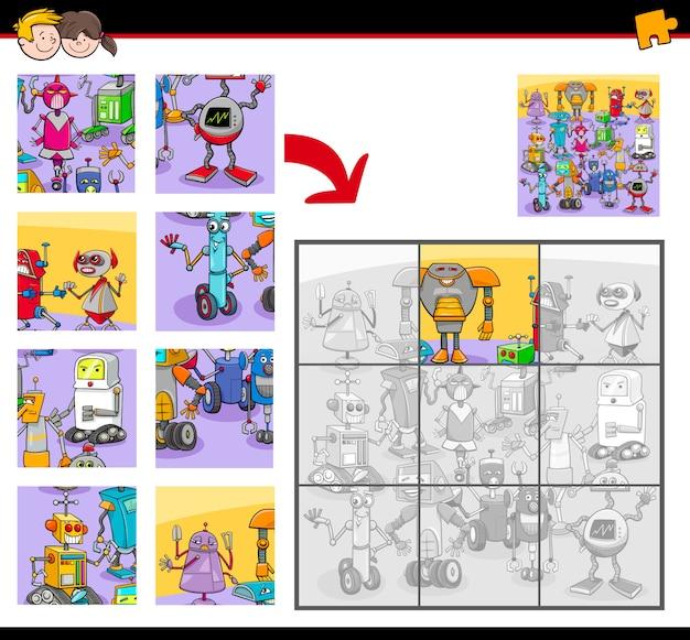 Legpuzzels met grappige robotpersonages
