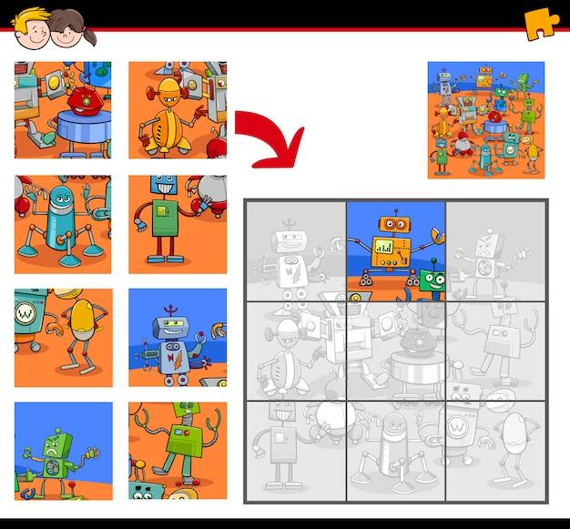 Legpuzzels met personages uit de robotfantasie