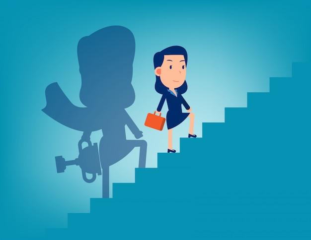 Leider en trap naar succes