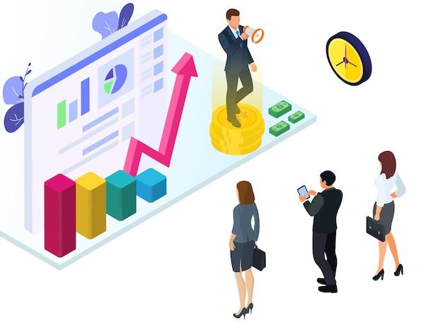 Leiders die medewerkers aanmoedigen voor economische groei