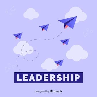 Leiderschap concept en papieren vlakken