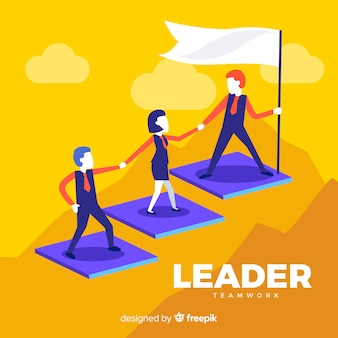 Leiderschap concept in plat ontwerp