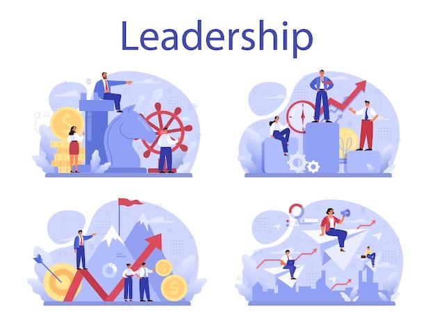 Leiderschap concept set