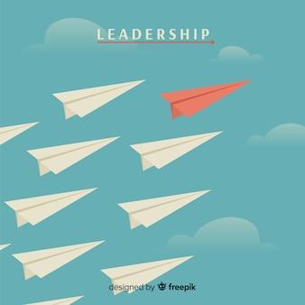 Leiderschap en papieren vliegtuigen concept