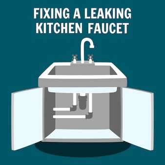 Lekkende keukenkraan repareren