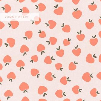Lekker handgeschilderde oranje perziken achtergrondontwerp