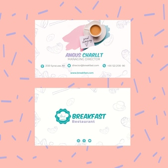 Lekker ontbijt visitekaartje