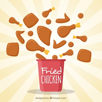 Lekkere gebakken kip