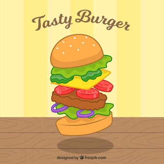 Lekkere hamburger achtergrond