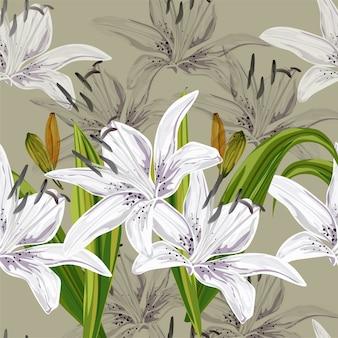 Lelies naadloos patroon