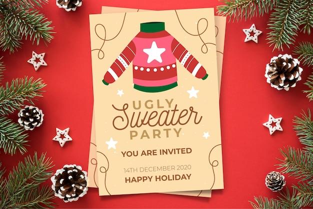 Lelijke trui partij uitnodiging sjabloon