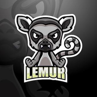 Lemur mascotte esport illustratie