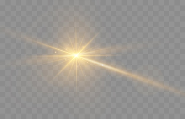 Lens flare vector illustratie gloeiende vonk lichteffect geïsoleerd op transparante background