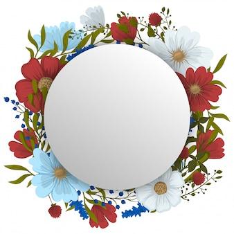 Lente bloem frame