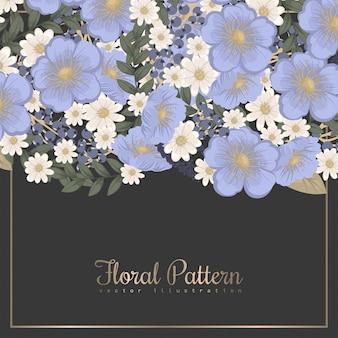 Lente bloem kostganger - lichtblauwe bloem