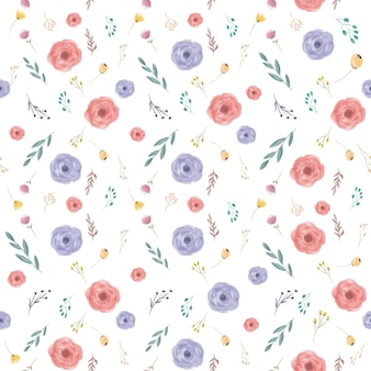 Lente bloem naadloze patroon achtergrond kleurrijke lente bloem naadloze patroon achtergrond kleurrijke