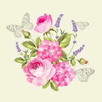 Lente bloemen boeket