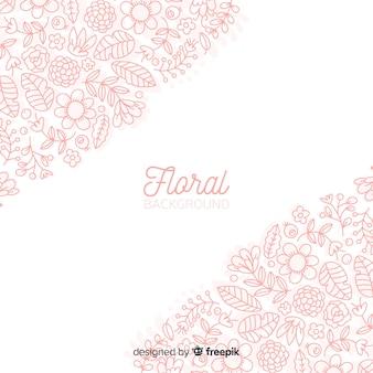 Lente bloemen doodles achtergrond
