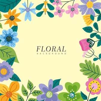 Lente bloemen frame