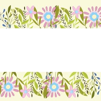 Lente bloemen gebladerte