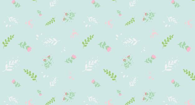 Lente bloemen vector naadloze patroon