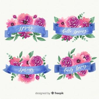 Lente bloemenlint collectie