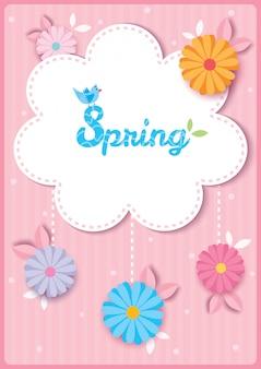 Lente bloemenmalplaatje