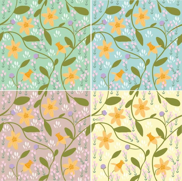 Lente bloemenpatroon / achtergrond