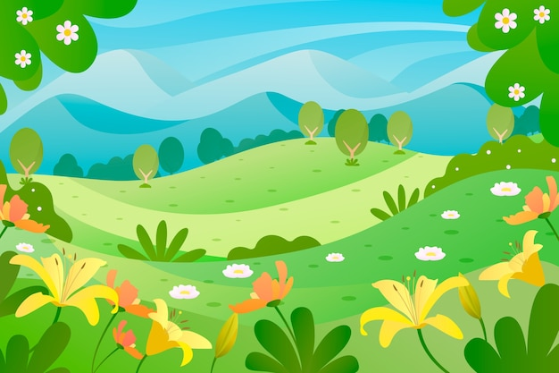 Lente concept voor landschap