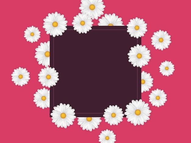 Lente frame met bloemen.