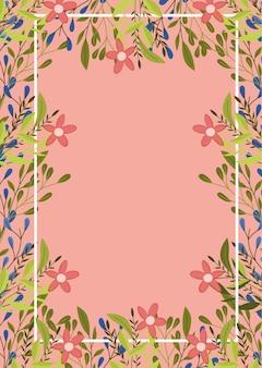 Lente frame met bloemen