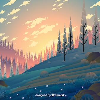 Lente landschap